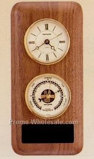 "4-1/2""x9-1/2"" Double Instrument Clock And Barometer Wall Unit"