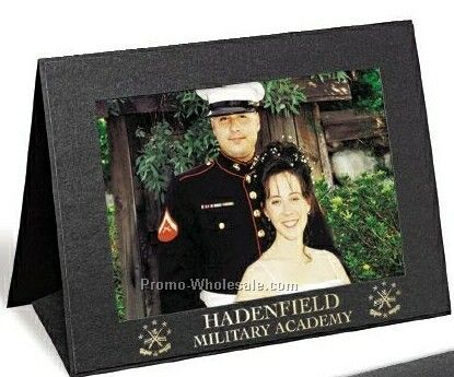 "5""x7"" Black Vertical Grandeur Easel Portrait Folder"