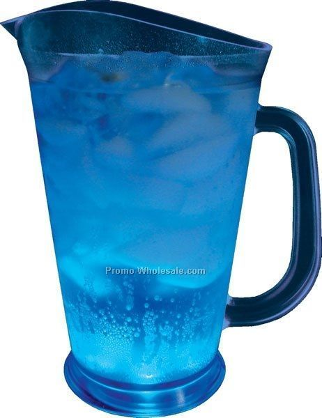 60 Oz. Blue Light Up Pitcher W/ 5 White LED Lights