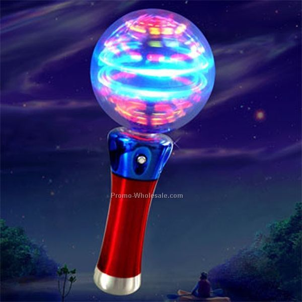 "7"" Light Up Spinner Wand - Rainbow"