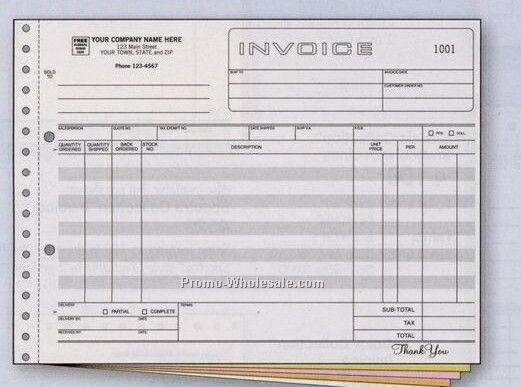 "8-1/2""x11"" 3 Part Classic Collection Wide Body Invoice"