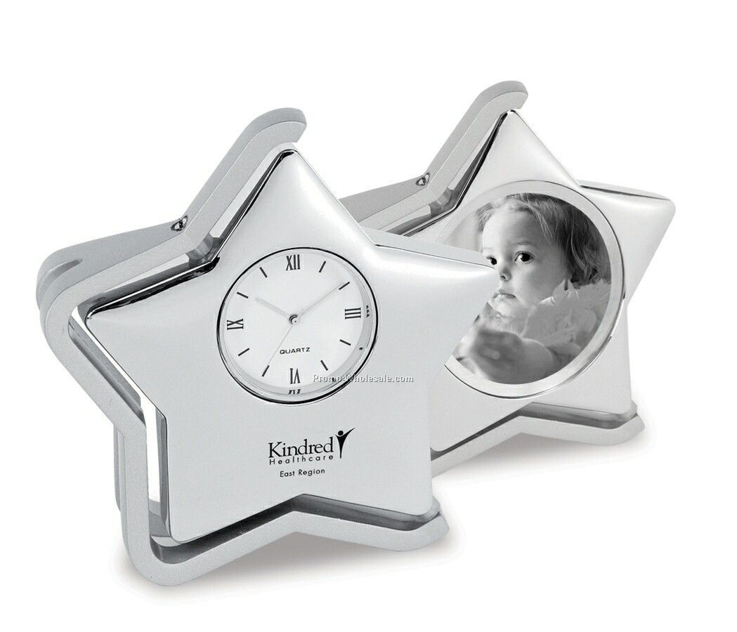 Adornment Star Swivel Clock / Picture Frame