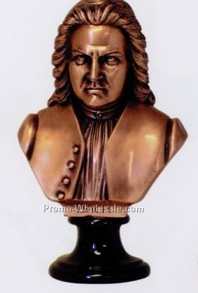 Bach Bust(S) Figurine(Copper Finish)