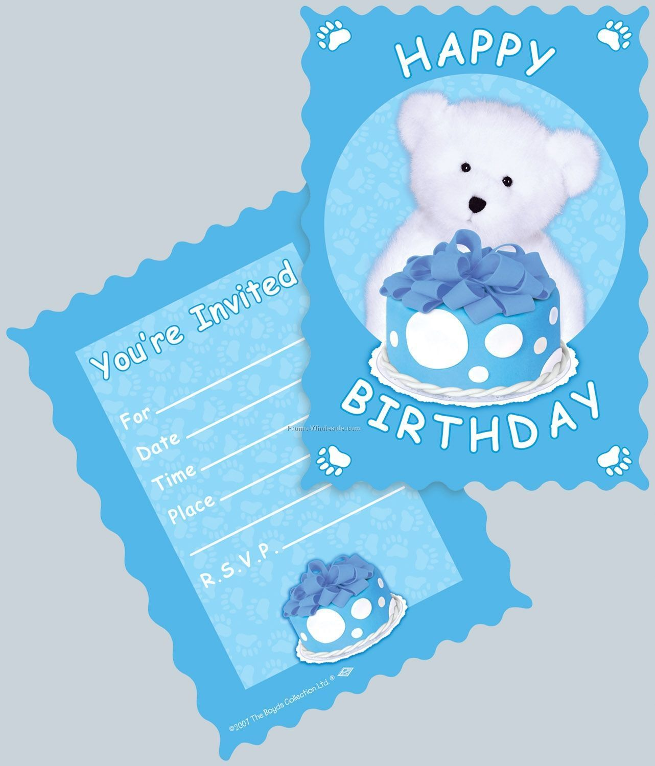 Boyds Bears Birthday Invitations