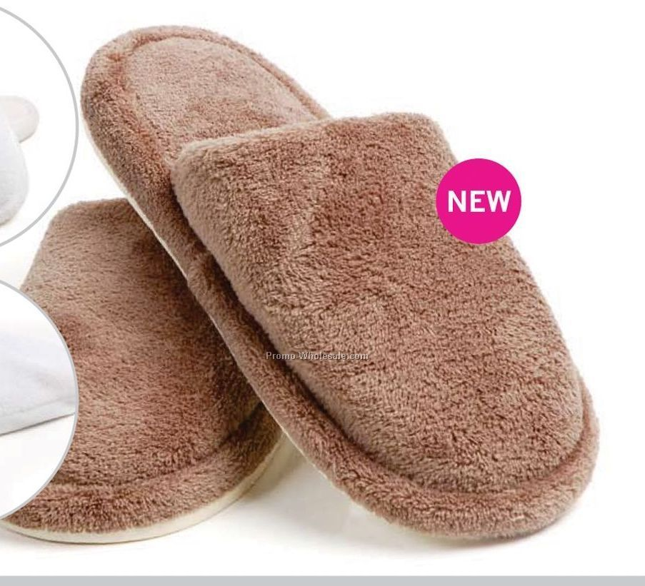 Coral Fleece Slippers (L-xl, White)