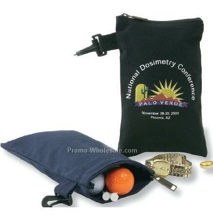 Cotton Golf Pouch - Black