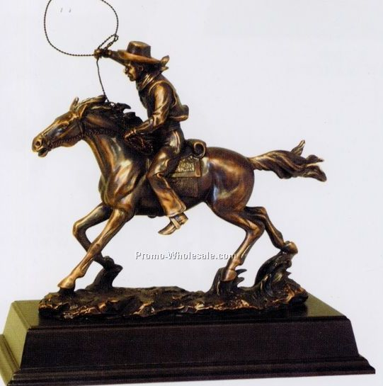 Cowboy Figurine(B) Antique Bronze