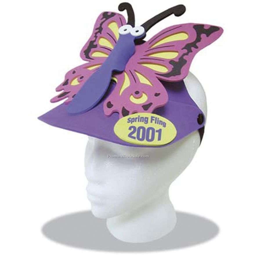 Foam Animal Sun Visor - Butterfly