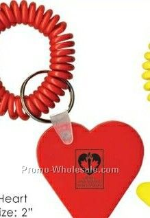 Fun Shaped Coil Wristband With Heart Tag