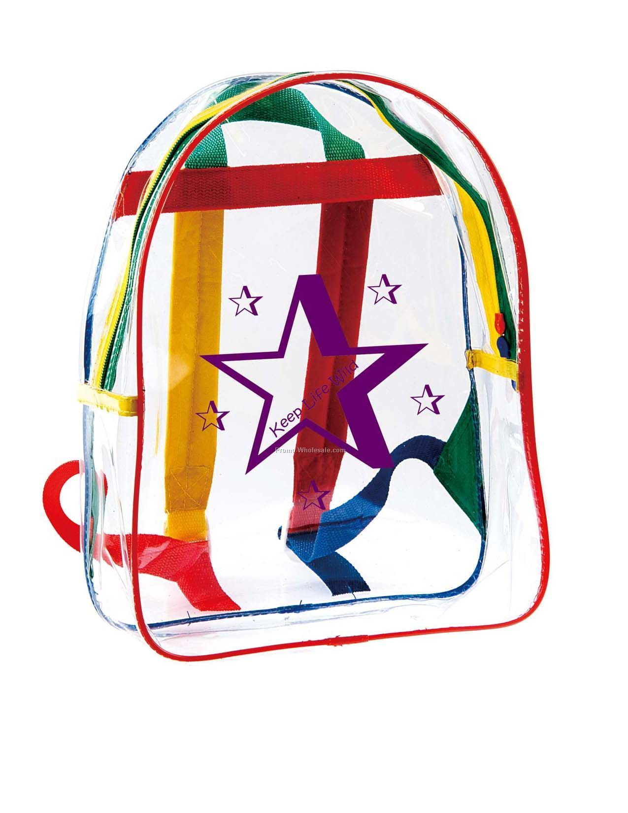 Custom transparent pvc backpack