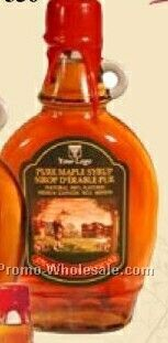Medium Pure Maple Syrup In Alcoa Flask 375 Ml (No Imprint)
