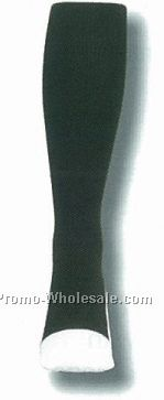 Over The Calf Referee Socks W/ White Sole Heel & Toe (13-15 X-large)