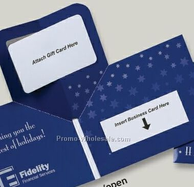 "Pop Up Postcard With Business Card Slit 4-1/4""x5-1/2"" (1 Color/ 2 Sides)"