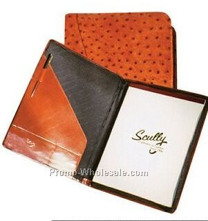 Red Italian Leather Letter Size Pad