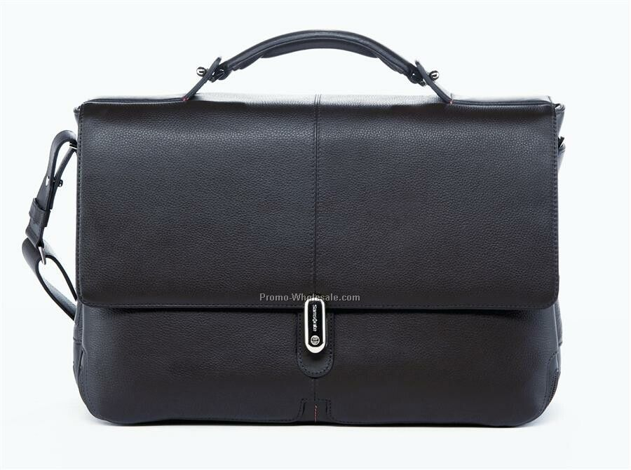 High Tech Leather Briefcase 1 Gusset