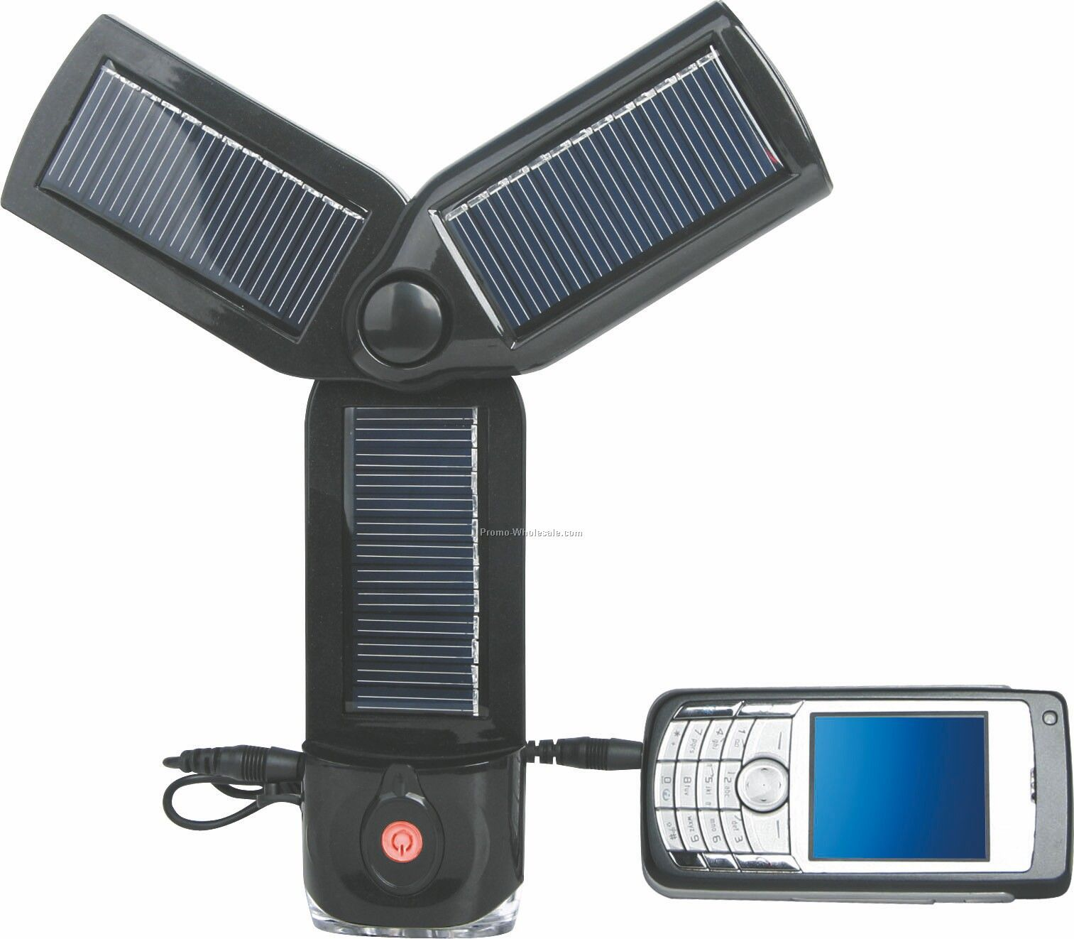 Solar Charger With LED Flashlight