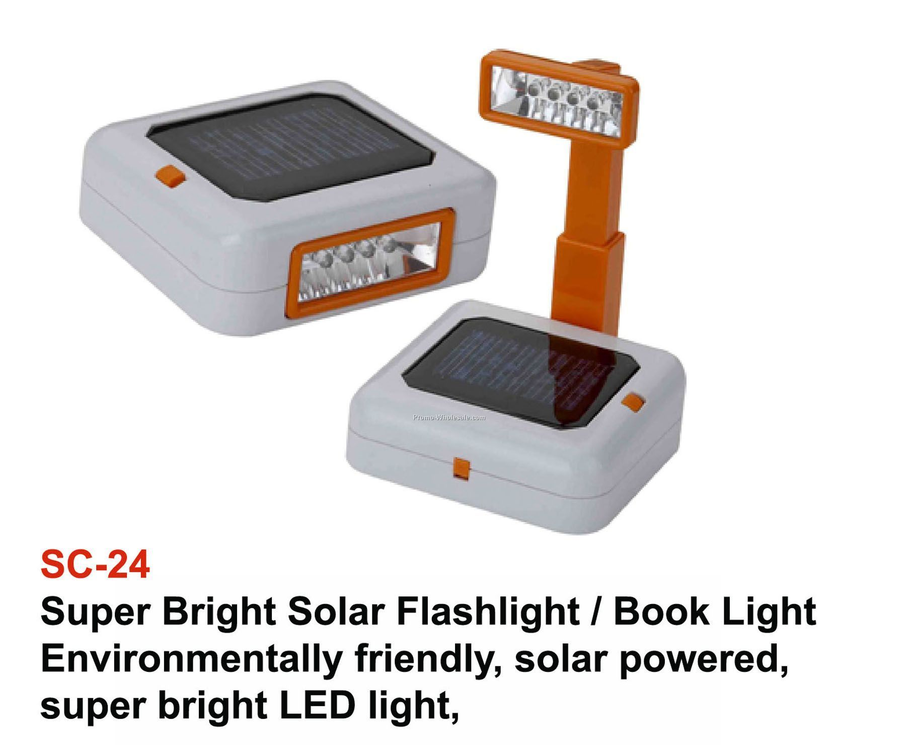 Solar Powered Flashlight / Book Light