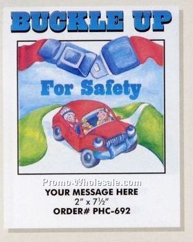 stock design safety theme coloring book buckle up 8 12 - Wholesale Coloring Books 2