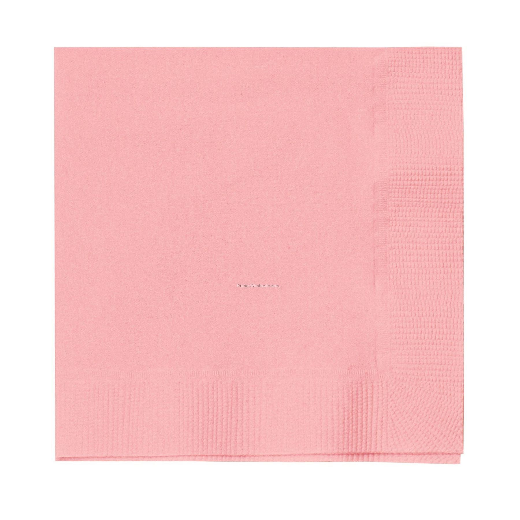 The 500 Line Colorware Classic Pink Dinner Napkins W/ 1/4 Fold