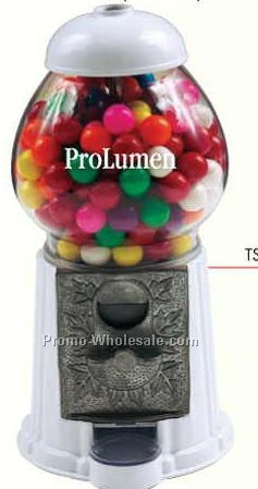 "White 9"" Gumball / Candy Dispenser Machine"