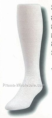 White Sanitary Tube Baseball Socks (7-11 Medium)