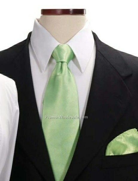 Wolfmark Lime 100% Silk Pocket Squares
