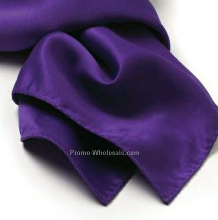 Wolfmark Purple Solid Series Polyester Scarf