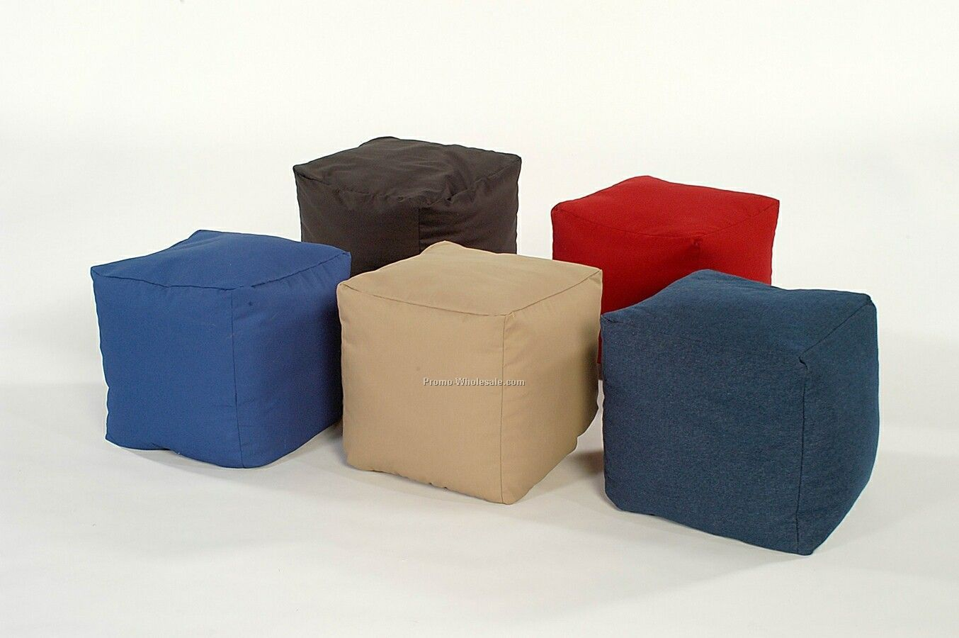 16 X16 Twill Small Cube Ottoman Embroidered
