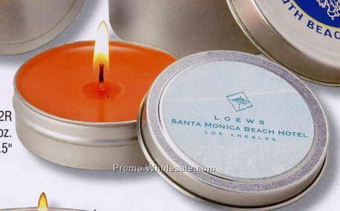 2 Oz. Scented Travel Candle In Tin W/ 15 Hours Burn Time