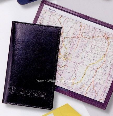 "3-3/4""x6-1/4"" Stitched Pocket Atlas (Fine Pearl & Softhide Vinyl)"