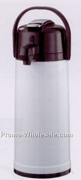 74-2/5 Oz. Glass Lined Eco-air Airpot With Lever Lid & Jeweled Shell