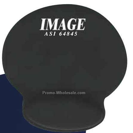 "8-1/8""x8-1/2"" Soft-top Mouse Pad W/ Wrist Rest"