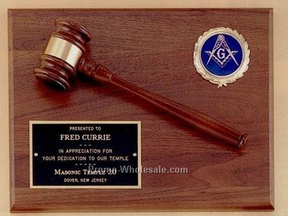 "9""x12"" Parliament Gavel Plaque With Wrestling 2"" Activity Insert"
