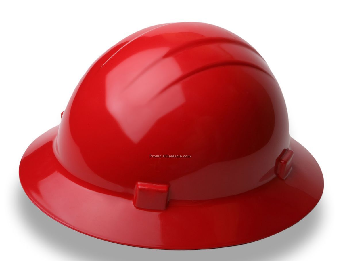 Americana Mega Ratchet Full Brim Safety Hats (Red)