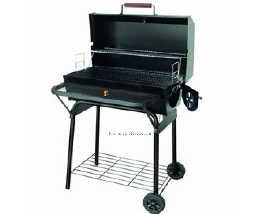 Barbecue Grill - Rectangular With Lid & Warming Rack