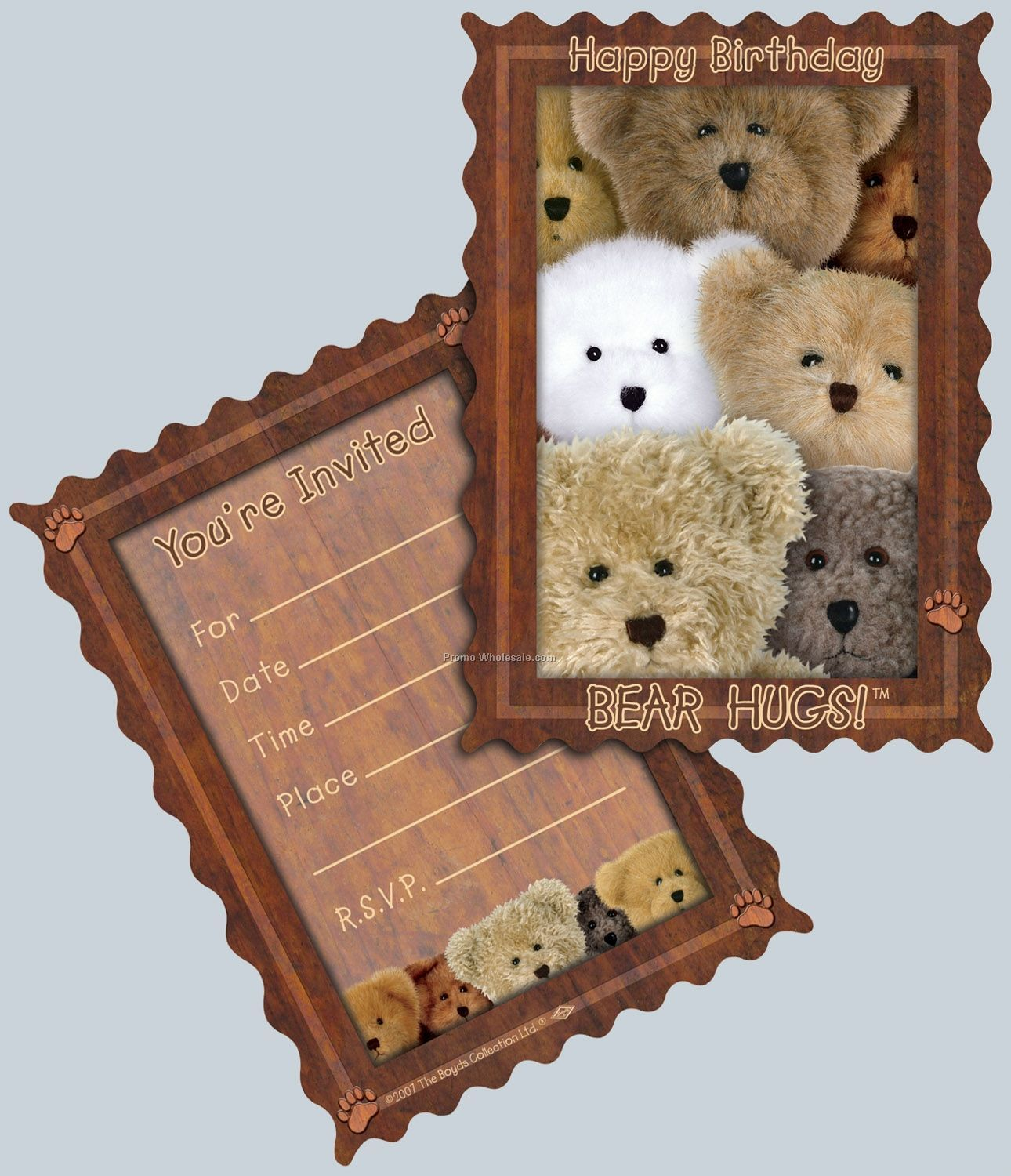 Boyds Bears Birthday Invitations - Bear Hugs