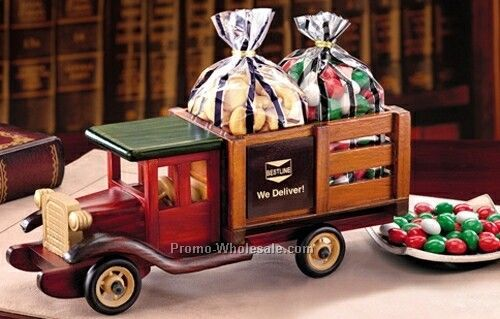 Cashews & Chocolate Gourmet Mints In A Classic Wooden 1925 Stake Truck