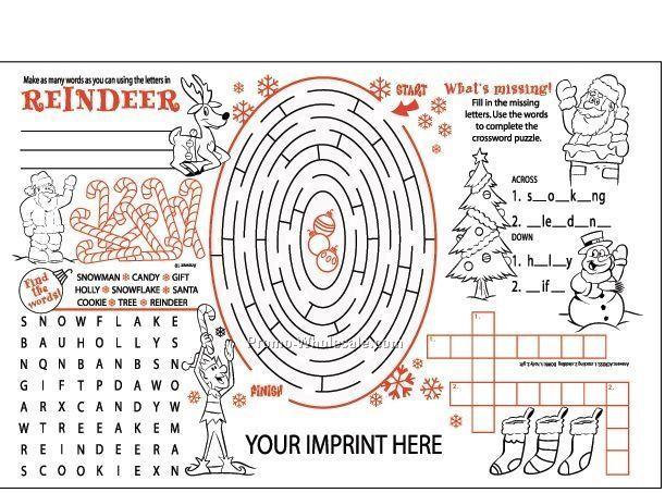 christmas activity poster - Santa Activities