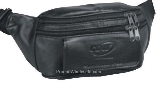 Cowhide Leather Fanny Pack (Imprinted)