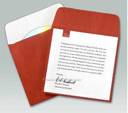 Custom Printed Paper Media Sleeve W/ Flap (4-process Color)