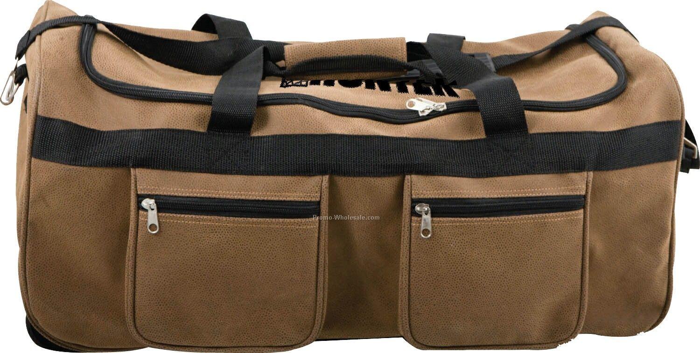 5902d53e43b Dark Chocolate Xtra Large Duffle Bag Leather 23 Inch Carry Duffel