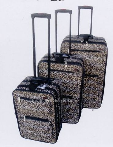 Fashion Luggage 3 Piece Set Collection A (Leopard Print)