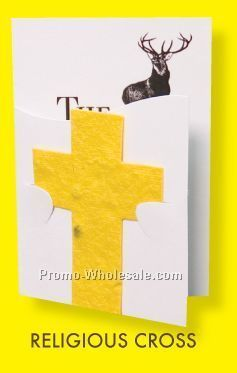 Floral Seed Paper Pop-out Booklet - Religious Cross