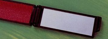 "Folding Lint Brush W/ Mirror (6-3/4""x1-3/16"")"