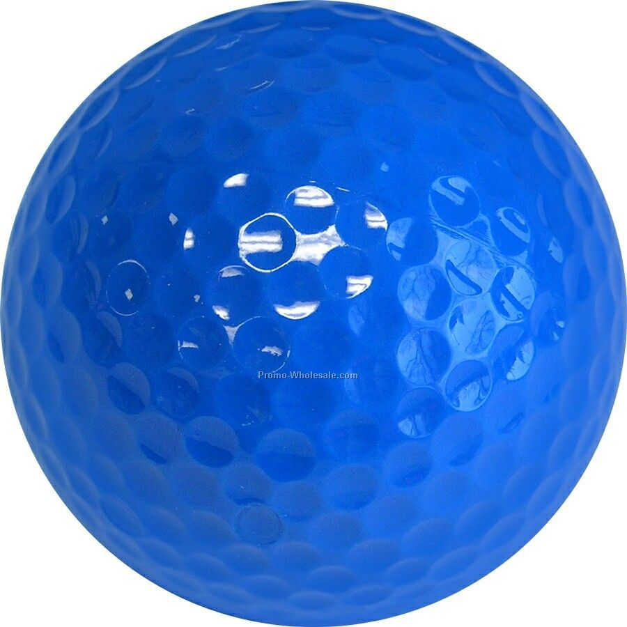 Golf Balls - Light Blue - Custom Printed - 4 Color - Clear 3 Ball Sleeves