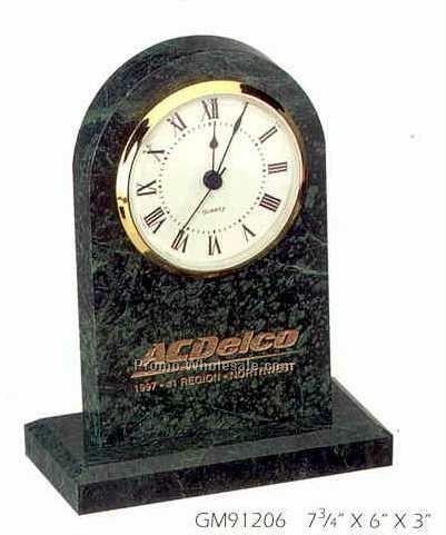 Green Marble Awards & Desk Accessories (Clock )