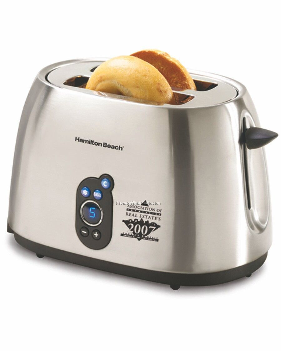 Hamilton Beach 2 Slice Digital Toaster, Brushed Metal