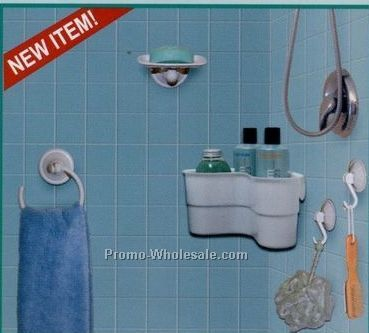 Ideaworks 5 Piece Easy Mount Bath Set