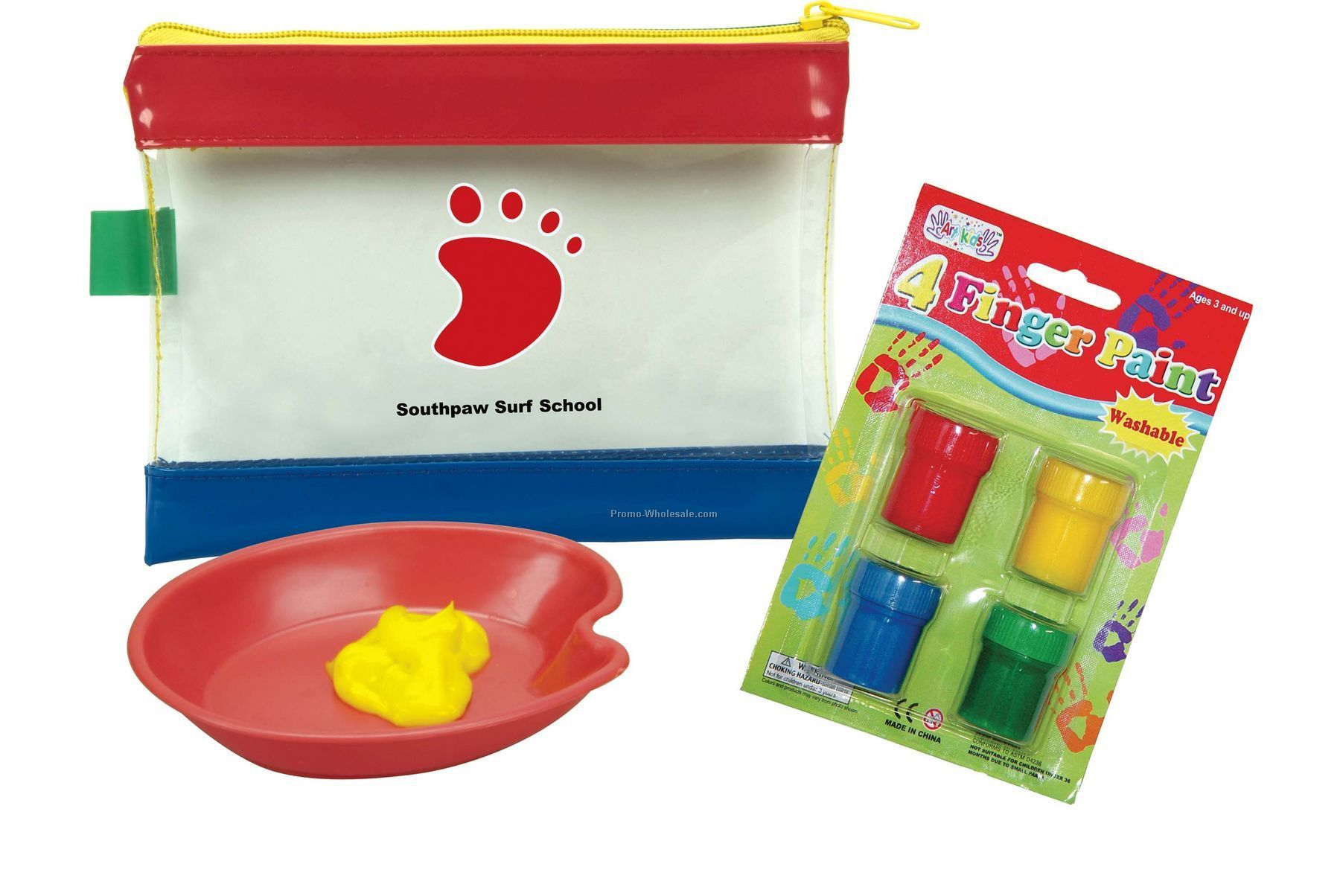 Kid's Mini Finger Paint Set