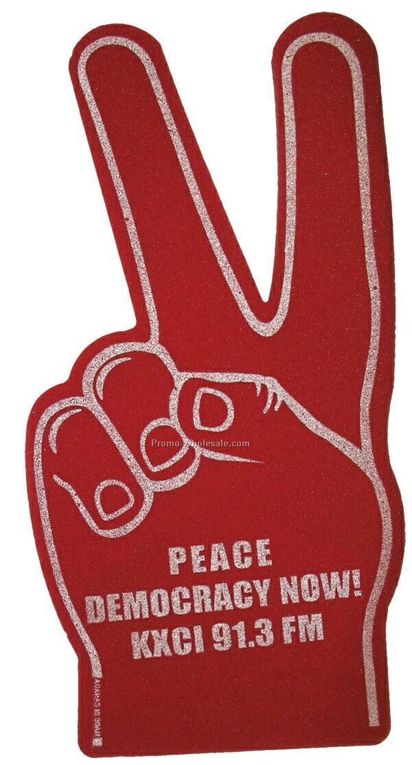 Peace Sign / V For Victory Foam Hand